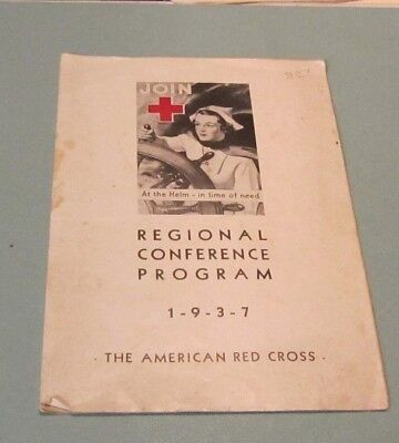 1937 American Red Cross Regional Conference Program Maryland State Meeting