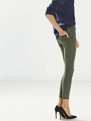 ac52b512e58e Mother Denim The Looker Ankle Fray Skinny Jeans In Forest Green W25 Uk 6/8