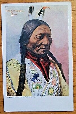 1904 Sitting Bull Sioux Indian Chief Postcard