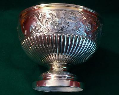 Exceptional Victorian silver bowl by Dobson of Piccadilly in 1890