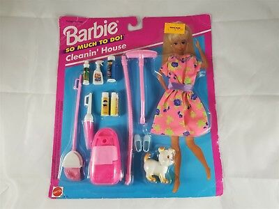 Mattel 1994 Barbie So Much To Do! Cleanin' House Accessory Set NIP 67171