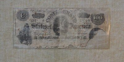 1864?  100 Dollar Note - Confederate States Of America  Currency - $100 - Rough