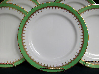 COALPORT SPEARPOINT GREEN (c.1937)- DINNER PLATE- SMOOTH! RARE! EXCELLENT!