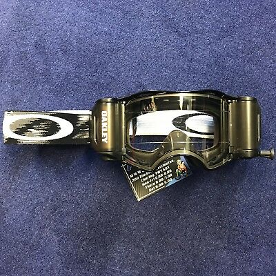 New 2018 Oakley Airbrake MX Roll Off Goggle Jet Black -new Style Roll Off System
