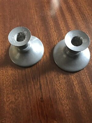 Antique Pewter Liberty & Co Tudric Candlesticks Numbered 01543