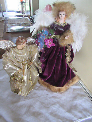 Two Angel Christmas Tree Toppers Christmas Decorations