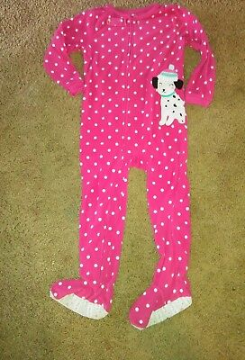 Carter's pajamas. puppy, Dalmatian. sleeper. footed. Size 5T