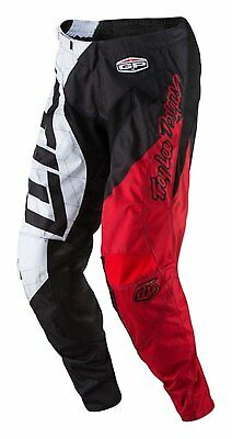 Troy Lee Designs GP Quest Boy's Off-Road Motorcycle Pants Black/White Youth 24