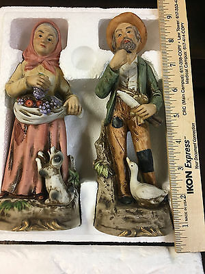 Home Interiors Homco Old Man Woman Dog Fruit Goose Pipe Country Knife #1417