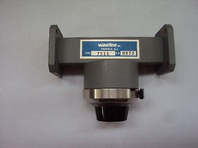 Waveline 7511 (WR-75)  Calibrated Variable Shielded Attenuator 10.0 to 15.0 GHz.