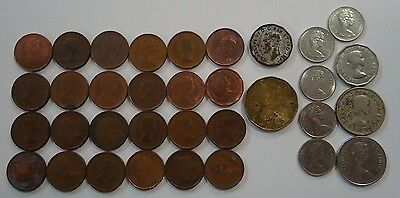 Lot of 34 canadian coins