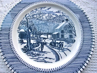 """Currier & Ives Country Life Print by Knowles 5 Dinner Plates 10-1/4"""" Free Ship"""