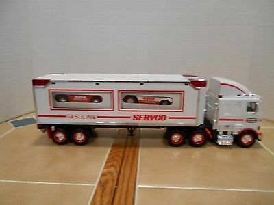 Servco 1998 tractor/trailer with 2 race cars,new old stock,MINT !!