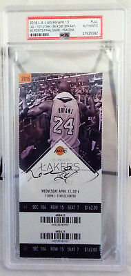 Kobe Bryant Signed Lakers 60 Point Final Game Ticket PSA/DNA Slabbed 4/13/16 (2)