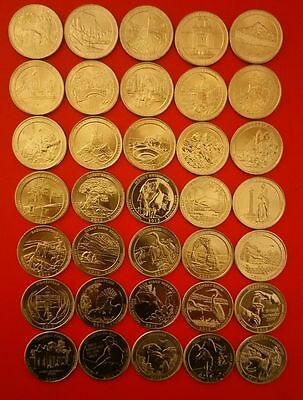 US NATIONAL PARKS QUARTER DOLLAR COINS P or D YEAR SETS 2010-2016 PICK YOURS