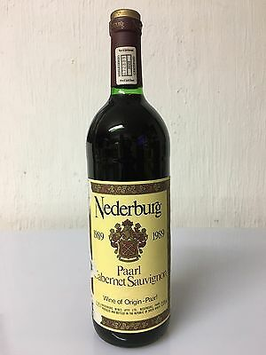 Nederburg 1989 Paarl Cabernet Sauvignon Wine Of South Africa 75cl 12% Vol