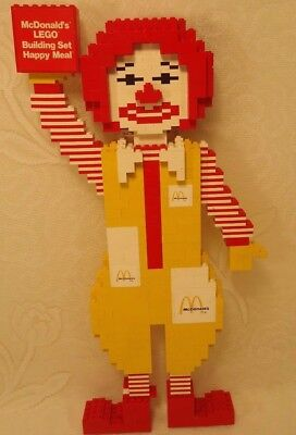 Vintage Lego Ronald Mcdonald store Counter Display For Lego Happy Meal