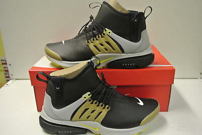 MENS NIKE AIR Presto Mid Utility Cool Grey Trainers (NF1