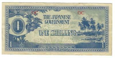 WW2 Era Oceania 1 Shilling, Japanese Occupation Currency Note - WWII (XX81)