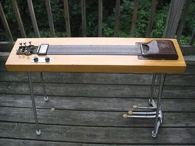 1950's Gibson EH-610 Korina Pedal Steel guitar with Brown case