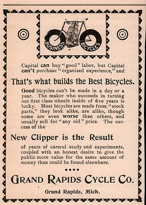 Ad Lot Of 7  1890 's Ads Grand Rapids Cycle Co Chainless Clipper Mercury