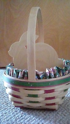 Longaberger Easter Basket 1999 With Wooden Bunny Insert