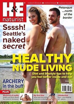 H&E naturist October 2017 magazine nudist health efficiency