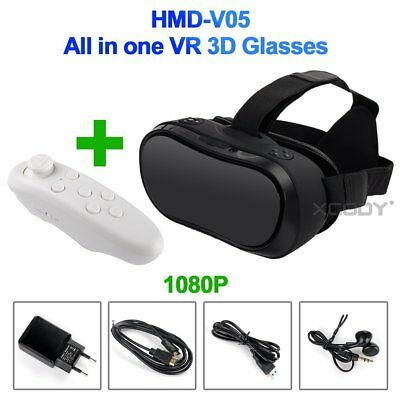 Vrtual Reality Head Mounted Display All In One 1080P HDMI-IN 3D Glasses VR Porn