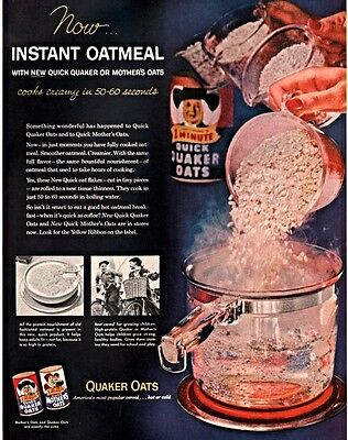 1955 Ad Quaker Oats Mothers And Quick Kids Bikes Cooking Pyrex Pot