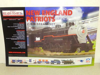 "Mth Railking Poster- New England Patriots Set- 17 X 11""- New- W3"
