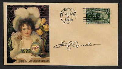 Coca Cola Asa Candler Collector's Envelope Original Period 1898 Stamp OP1181
