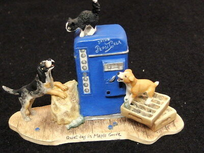 "Lowell Davis Route 66 ""Quiet Day In Maple Grove"" Figurine"