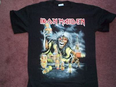 New IRON MAIDEN 2008 MOSCOW Concert Event Somewhere Back In Time Tour T-Shirt S