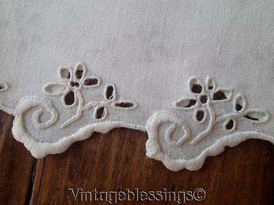 Lovely Whitework Lace Pair of Antique Pillow Cases