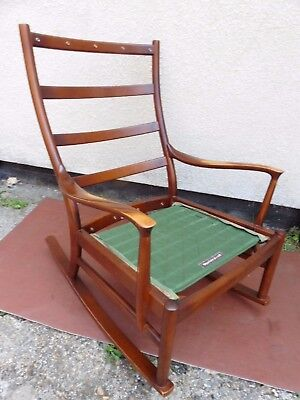 Vintage Retro Parker Knoll Rocking Chair With Arms, Comfy No Reserve Auction 99P