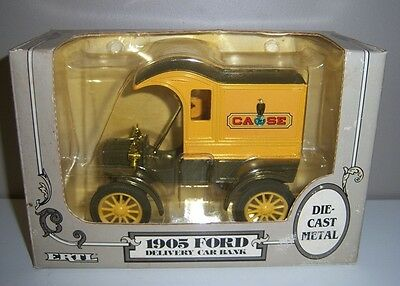 Replica 1905 Ford Case Delivery Car Die Cast Metal Car Bank - 1:25 Scale NEW