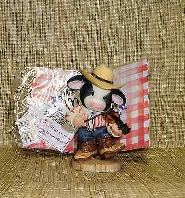 """Mary's Moo Moos #484865 Figurine """"You Put a Song in Moo Heart""""  No Box"""