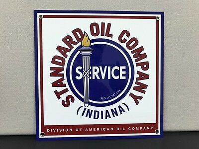 Standard gasoline garage advertising sign thick oil advertizing vintage