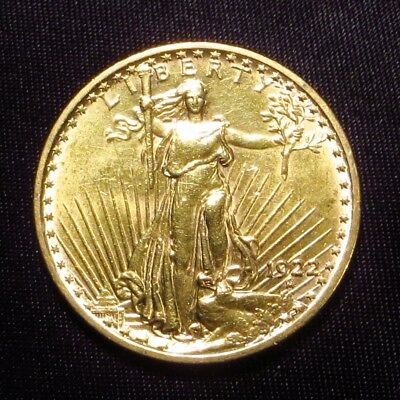 1922  ST. GAUDENS $20 DOUBLE EAGLE Gold Coin