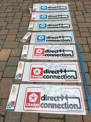 "Plymouth & Dodge LOT of Direct Connection LARGE stickers decals ""ORIGINAL NEW"" M"