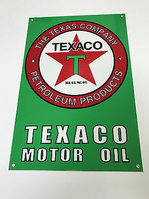 Texaco advertising sign oil gasoline garage no reserve
