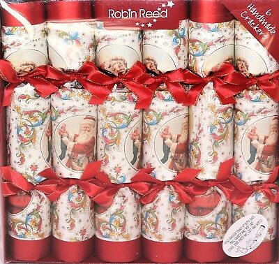 Robin Reed Christmas Holiday 6pc Party Crackers – Victorian Santa 61720D DEFECT