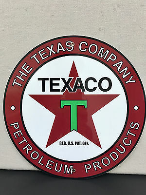 texaco gasoline advertising sign round