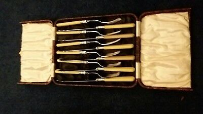 Sets of Vintage Cutlery Fish Knives and Forks - Boxed