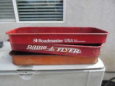 VINTAGE WAGON BED Lot of 3 Radio Flyer Roadmaster Rust Patina Project