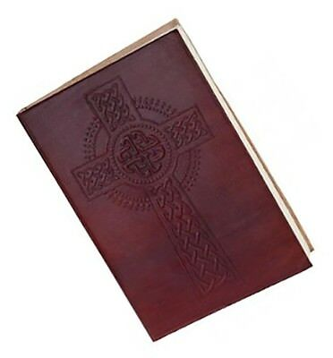 """Celtic Irish Leather Bound Journal with 100% Cotton Hand Made Paper Pages 5""""x3.5"""