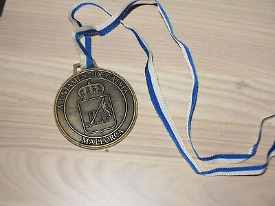 5. Mallorca Calvia Marathon 1988 Medaille Original Teilnehmer Finisher - Top Rar
