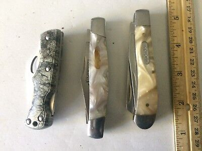 Lot of 3 Imperial Schrade Pocket Knives .... Hunting Fishing