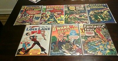 Marvel Dc Silver Age Ungraded Comic  Lot Of 7 With Keys No Reserve Lot #3