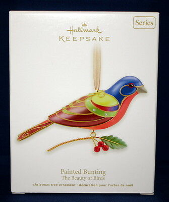 Hallmark Ornament 2012 Painted Bunting  #8  In Beauty Of Birds Series.
